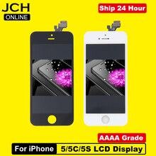 את המחיר הזול ביותר LCD תצוגה עבור Pantalla iPhone 5S 5C 5 SE LCD מסך מגע Digitizer עצרת + כלים + TPU + זכוכית