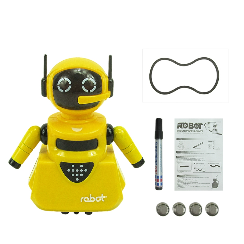Marking Induction And Pen Following Robot Automatic Induction Road Recognition Robot Children's Toys Along The Line Xmas Gifts E