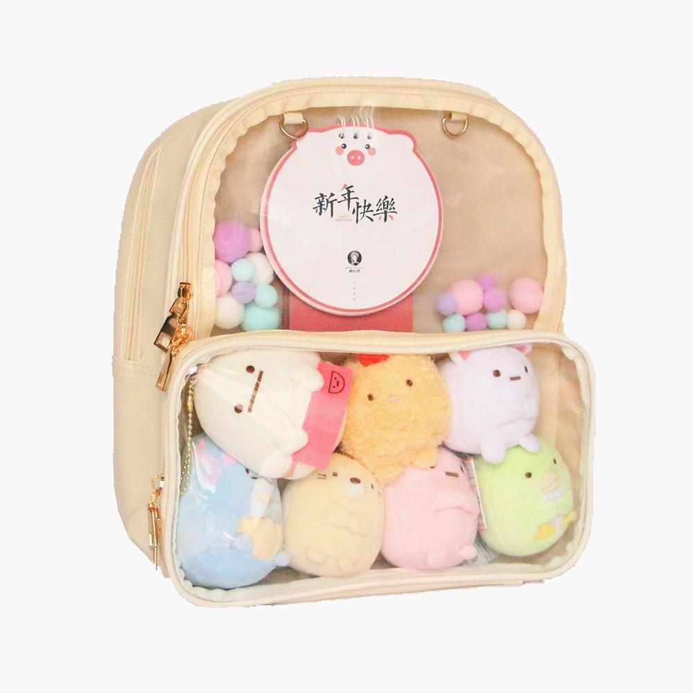 Ita Bag Backpack Clear Transparent Women Diy Bag Ladies Transparent Backpack Teenage Girls Lovely Lolita Bag Itabag 7 Colors