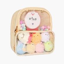 Ita çantası sırt çantası açık şeffaf kadınlar Diy çanta bayanlar şeffaf sırt çantası genç kız güzel Lolita çanta Itabag 7 renk
