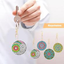 DIY Full Special-Shaped Diamond Painting Bag Pendant Mandala Keychains Special Shape Drill Woman Girl Jewelry Keyring