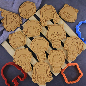 Demon Slayer Cookie Cutter Tools 3D Pressing Baking Accessories Cookie Kamado Tanjiro Nezuko Mold Kitchen Supplies