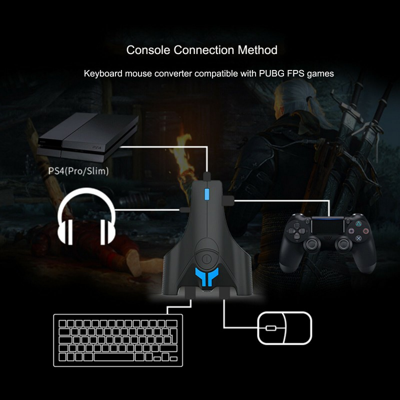 cheapest Gamepad Controller Converter Wired Keyboard And Mouse Adapter Portable Gaming Mice Converter For PS4 Xbox One Switch Hot Selling