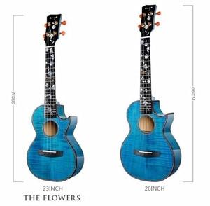 Image 3 - Enya 26 inch Ukulele Flame Maple 23inch Blue Ukulele Concert Tenor ukulele Hawaii Guitar 4 String musical instruments