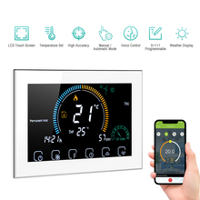 WiFi Smart Programmable Thermostat 6 Period Voice APP Control LCD Water/Gas Boiler Heating Thermoregulator For Echo Google Home
