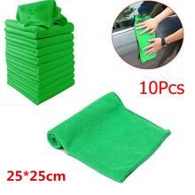 5/10x microfibra toalha de lavagem de carro limpeza macia cuidados com o carro do automóvel detalhando panos lavagem toalha espanador 9.84 inch x x 9.84 inch polegadas