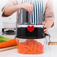 500W Multifunction Electric Sliced Grater Food Machine Spiral Funnel Potato Cucumber Shredder Vegetable Chopper Kitchen Gadgets
