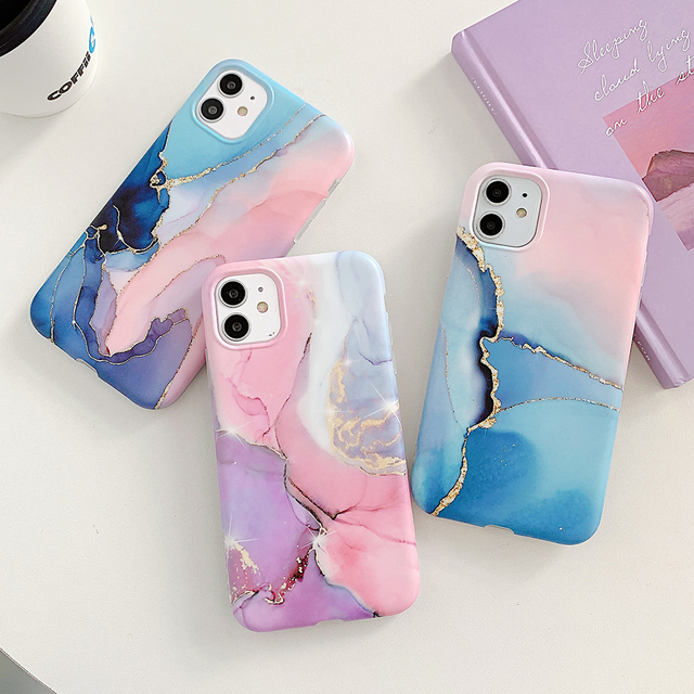 LOVECOM Vintage Gradual Color Marble Phone Case For iPhone 12 11 Pro Max XR XS Max 6 7 8 Plus X Matte Soft IMD Back Cover Coque 3