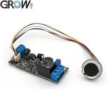 Placa de Control de acceso de huella dactilar, módulo de huella dactilar de bajo consumo K202 + R502 A DC12V + R502 A Pequeño anillo LED
