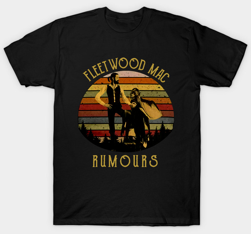 Stevie Nicks Fleetwood Mac Rumours T-Shirt Vintage Black Cotton