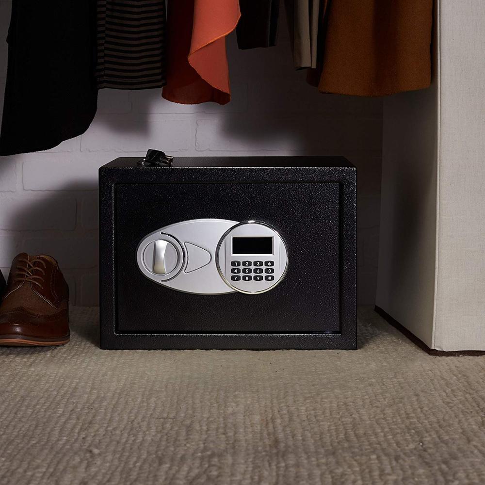 Роскошный цифровой Сейф для хранения, ювелирный сейф, домашний замок для гостиницы, Черная защитная коробка 35X25X25cm