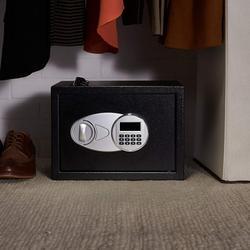 الأمن الفاخرة الرقمية إيداع قطرة خزينة حفظ الأموال مجوهرات المنزل فندق قفل لوحة المفاتيح السوداء سلامة خزنة أمان 35X25X25cm