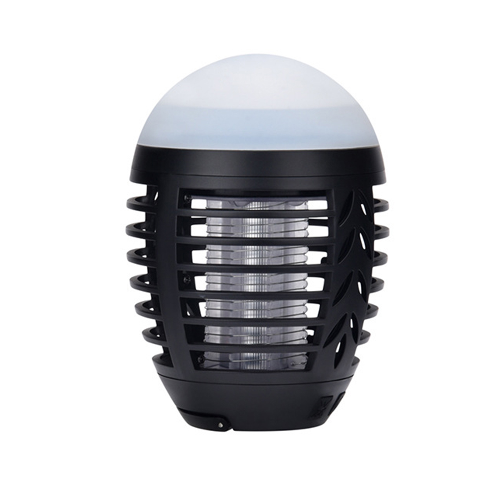 Outdoor Waterproof Electric Shock USB Rechargeable Hiking Fishing Camping Ultra Quiet Hanging Insect Mosquito Killer Lamp Led