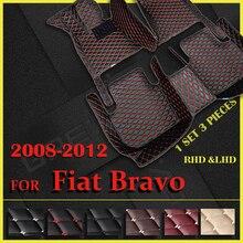 Araba paspaslar Fiat Bravo için 2008 2009 2010 2011 2012 özel oto ayak pedleri otomobil halı kapak