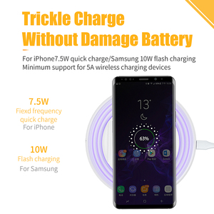 Image 3 - Essager Qi Wireless Charger สำหรับ iPhone 11 Pro XS MAX Samsung Fast Wireless CHARGING Pad Dock Station Light Night Light ผู้ถือ