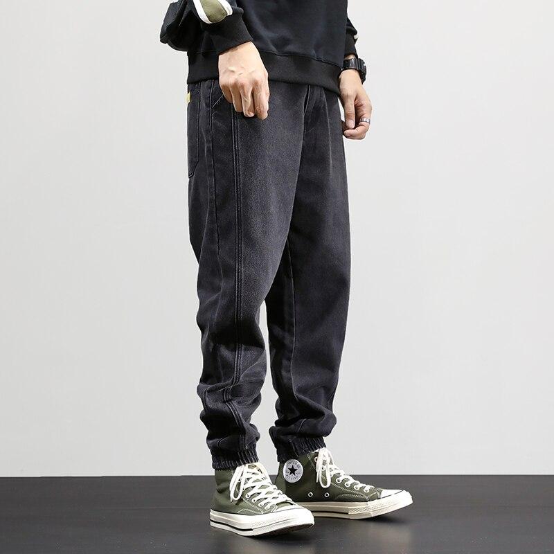 Fashion Streetwear Men Jeans Loose Fit Denim Cargo Pants Hip Hop Jeans Men Joggers Thick Velvet Winter Warm Jeans Homme