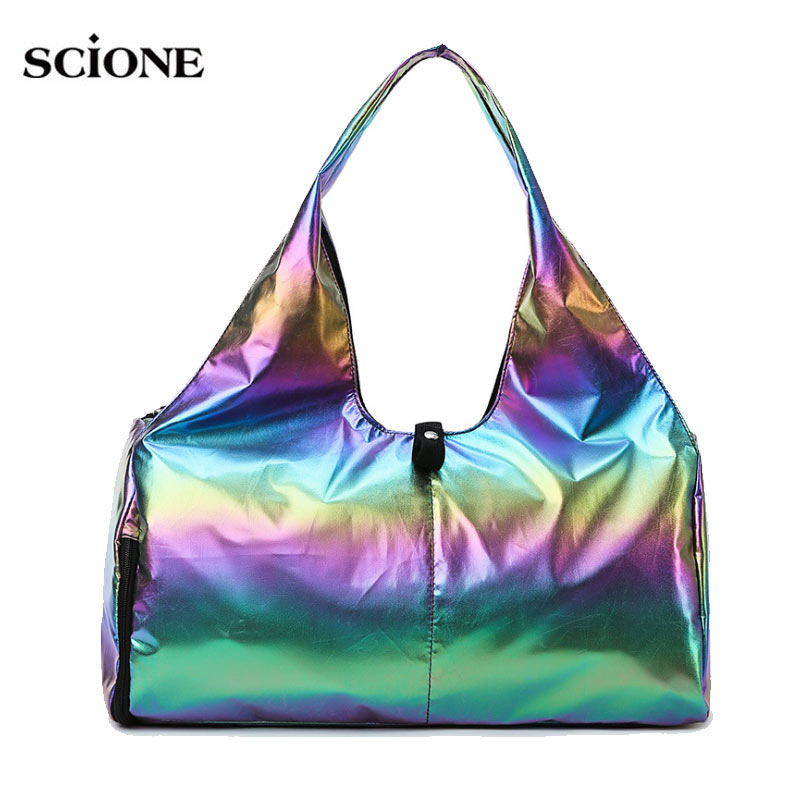 Yoga Mat Bag Gym Dry Wet Fitness Bags Glitter For Women Men Training Sac De Sport Laser Gymtas Sports Tas Sporttas 2020 XA441A