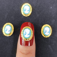 Frame Nail Art jewelry Gold Metal Charms Decors Princess Nailart Japanese 3d Glitter Accessories DIY Cameo nail supplies(China)
