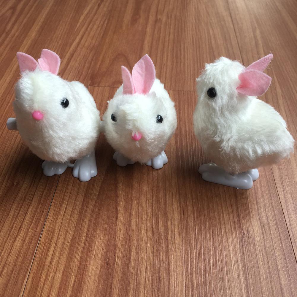 Easter Bunny Toys Kids New Pluh Rabbit Toys for Children Infant Stuffed Hopping Wind Up Easter Children's Day Gift