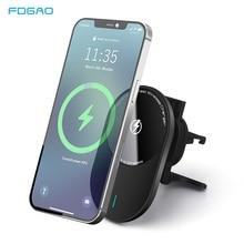 磁気ワイヤレス車の充電器のmagsafe iphone 12ミニ12プロ11 xs xr 15ワット急速充電器電話マウント三星S21 S20
