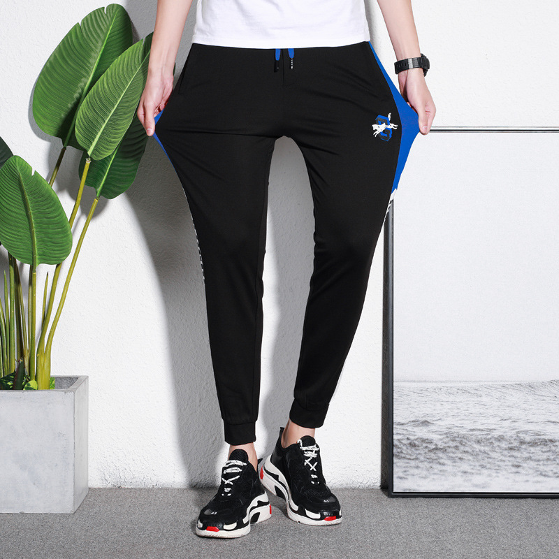 Autumn New Products Men Capri Thin Elasticity Skinny Casual Pants Youth Fashion Breathable Fashion 9 Pants 1902