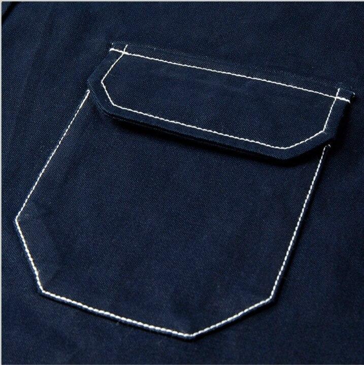 Thick Blue Denim Pocket Shirt  4