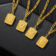 Tiny Initial A-Z Letter Necklace For Women Stainless Steel Charm Luster Gold Medal Capital Letter Necklace Pendant BFF Jewelry
