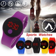 Sports-Watch Great-Value Man's Children Luxury LED Waterproof 6-Color Wrist Silicone-Band