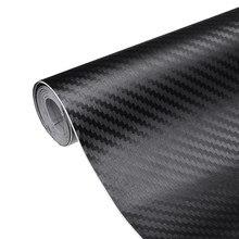 200*40cm 3d fibra de carbono fosco preto vinil carro envoltório folha rolo filme adesivos decalques carro da motocicleta estilo do carro acessórios