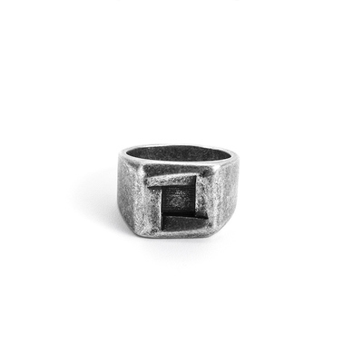 STAINLESS STEEL VIKING SQUARE RINGS