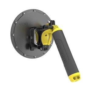 Image 5 - טלסין כיפת יציאת 30M Waterproof צלילה כיסוי דיור מקרה 6 צף ידית טריגר עבור GoPro גיבור 8 מצלמה אבזרים