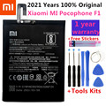Оригинальный запасной аккумулятор BM4E для Xiaomi MI Pocophone F1, оригинальный аккумулятор для телефона, 4000 мАч + набор инструментов + наклейки