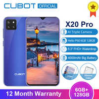 "Cubot X20 Pro 6GB + 128GB tryb AI potrójne kamery Android 9.0 octa core Helio P60 AI 6.3 ""FHD + ekran Waterdrop face id Smartphone"