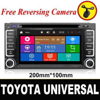 2 DIN Car DVD GPS Player for Toyota Hilux Camry Corolla Prado RAV4 Radio Stereo In Dash image