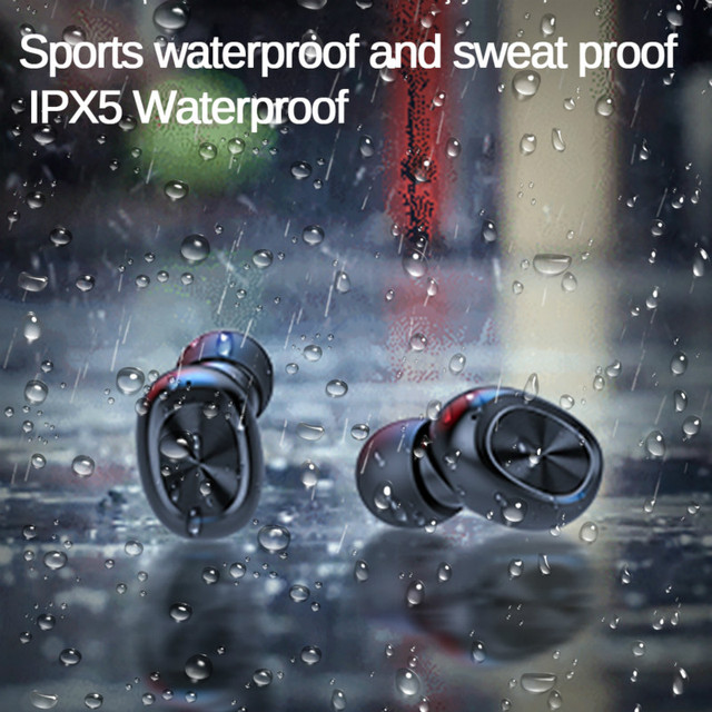 TWS Bluetooth Earphones Streo Wireless Earbuds with Wireless Charging Case 3D Stereo Sound IPX5 Waterproof Whit Charging Box 5