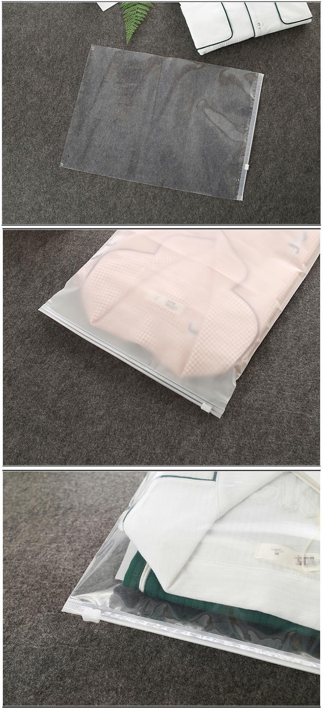 10 PCS PE Matte Thick Clothing Packaging Ziplock Plastic Zipper Packaging Ziplock Bag