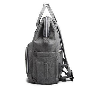 Image 5 - Sac à couches pour bébé, poussette pour maman, USB, grande capacité, à couches étanches pour maman, sac à dos de voyage pour maternité, sacoche à main dallaitement