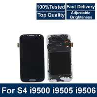 100% Tested LCD Display For Samsung S4 I9505 LCD I9500 i9505 i9506 LCD Screen Touch Digitizer Assembly With brightness control