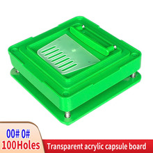 Capsule Packaging-Machine Filling-Plate 00 --0 Manual ABS 100-Hole