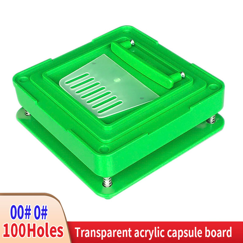 00#-0#100 Hole ABS Capsule Filling Plate Filling Manual Capsule Manual Packaging Machine