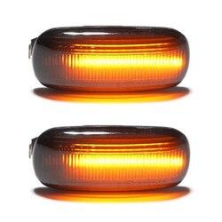 2 pièces Led dynamique côté marqueur clignotant lumière séquentielle clignotant lumière pour Volkswagen VW Bora Golf 3 4 Passat 3BG Polo SB6