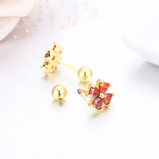 7colors Cute Heart CZ Stones Clover Flower Screw Back Stud Earrings For Women Baby Kids Girls.jpg 640x640 - 7colors Cute Heart CZ Stones Clover Flower Screw Back Stud Earrings For Women Baby Kids Girls Gold Color Piercing Jewelry Aros