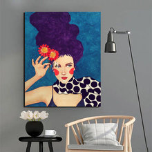 Poster Vintage Beauty Girl Artwork Wallpaper HD Canvas Painting Print Living Room Home Decor Modern Wall Art Oil Painting Poster цена и фото