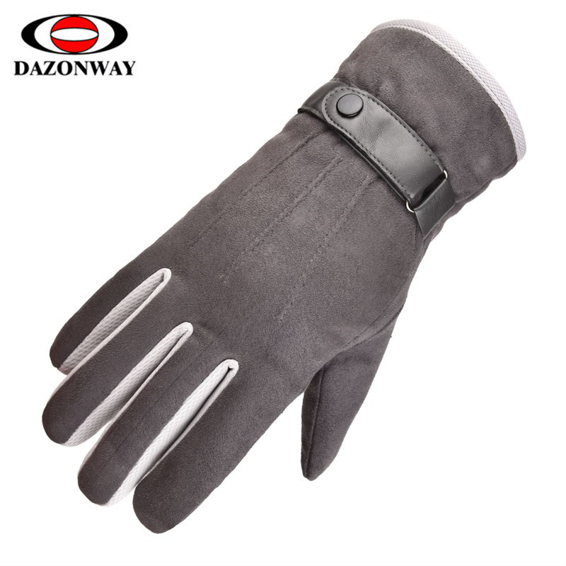 One Size Winter Warm Gloves Men Ski Gloves Snowboard Gloves Motorcycle Riding Winter Touch Screen Snow Windstopper Gloves Blue