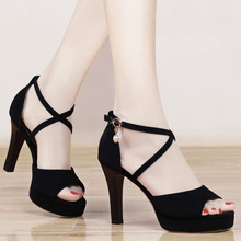 9 cm Women Pumps 2020 Summer Super High Heels Platform Black Sexy Sandals Fish Mouth Buckle Sandals With Ankle Strap Shoes Woman free shipping shoes woman 2018 summer flock brand ol high heeled woman sandals frosted with fish mouth ladies sexy sandals