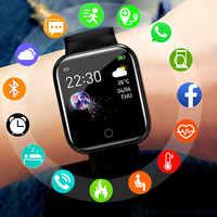 Reloj inteligente deportivo resistente al agua para hombre, pulsera inteligente con control del ritmo cardíaco y de la presión sanguínea y Bluetooth D20 Y68