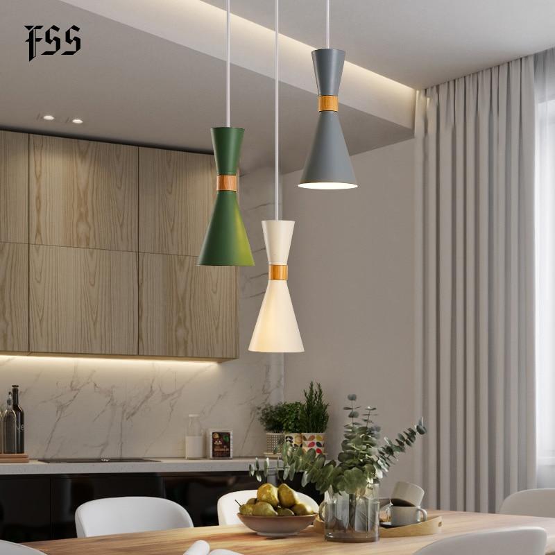 Fss Nordic Led Pendant Light Modern Lamps Kitchen Island Dining Room Shop Bar Decoration Pendant Lights Indoor Light Fixture Pendant Lights Aliexpress