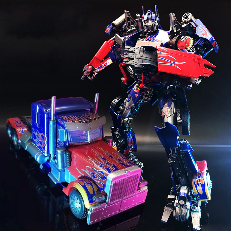 Transformers Optimus Prime <font><b>MPM04</b></font> KM01S Metal Part Autobot Model Deformation Robot Action Figure Collections Christmas Gifts image