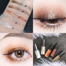 Maquillaje de ojos profesional plata Rosa oro líquido brillo sombra de ojos brillo delineador de ojos sombra mujeres pigmento de ojos cosméticos coreanos TSLM1