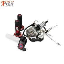 Tanque de energía afinada PZ30 IRBIS TTR250 para Keihin, carburador de 30mm, agarres de Cable Twister visiables